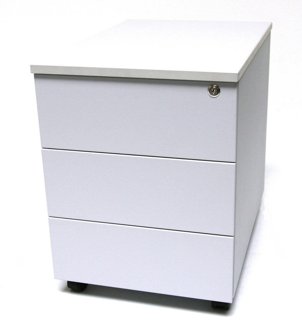 Rollcontainer Stahl, Eco 3 Schubladen, 53x40x59 cm, lichtgrau, Marke ...
