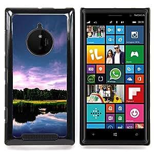 """For Nokia Lumia 830 , S-type Naturaleza Lago Hermoso"""" - Arte & diseño plástico duro Fundas Cover Cubre Hard Case Cover"""