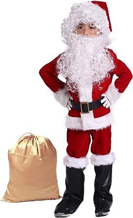 Amazon.com: Takuvan - Disfraz de Papá Noel para niño (10 ...