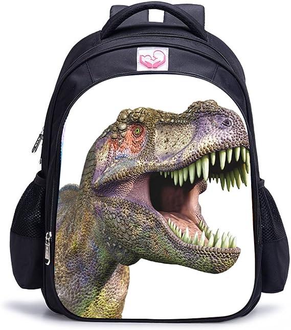 Imagen deMemoryee Dinosaurio 3D Impresión Realista Childrens Backpack Kindergarten Primary School Mochila Escolar Mochila de Lona Laptop Book Satchel Bolsa de Caminata - 15L / 32 x 17 x 42 cm (Dinosaurio04)