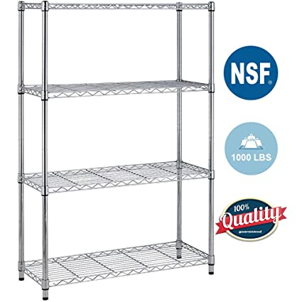 Nsf Wire Shelf | Amazon Com 4shelf Wire Shelving Unit Garage Nsf Wire Shelf Metal