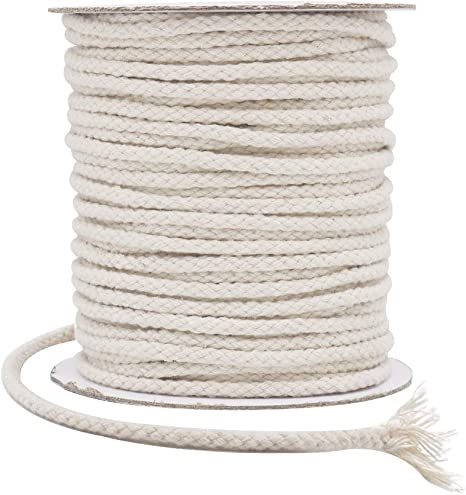 Dusky Pink Macrame Cord Cotton Braid Make a Plant Hanger How to Macrame Guide, 5mm Macrame Rope Cotton String Cotton Twisted Cord