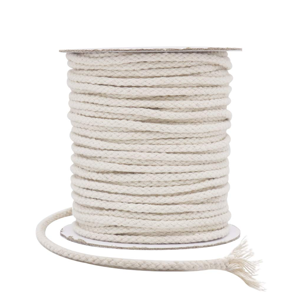 Tenn Well 5mm Macrame Cord, 164Feet Natural Cotton Twine String for Plant Hangers Wall Hangings Dream Catchers DIY Crafts