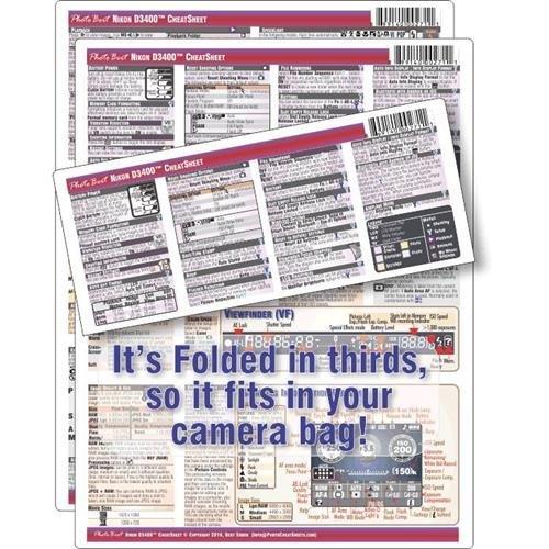 PhotoBert Photo CheatSheet for Nikon D3400 Digital SLR Camera by PhotoBert