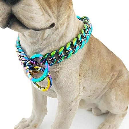 DALEI Collar Consistent para Perros Collares de Acero Cadena ...