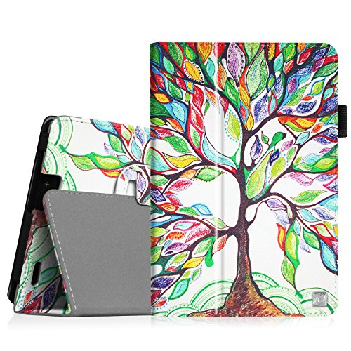 Fintie Folio Case for Kindle Fire HD 7 (2013 Old Model) - Slim Fit Folio Case with Auto Sleep/Wake Feature (will only fit Amazon Kindle Fire HD 7, Previous Generation - 3rd), Love Tree