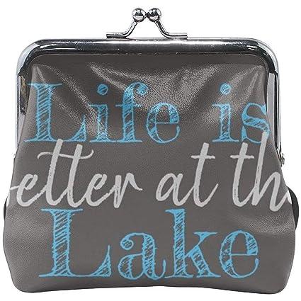 La Vida es Mejor en el Lago Monedero pequeño Monedero de ...
