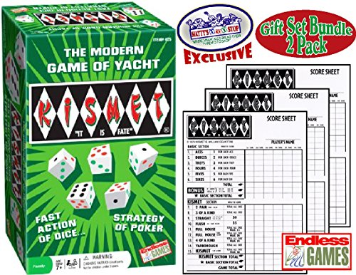 Kismet Dice Poker Game of Modern Yacht & Replacement Scorepads Deluxe Gift Set Bundle - 2 Pack by Endless Games (Image #4)