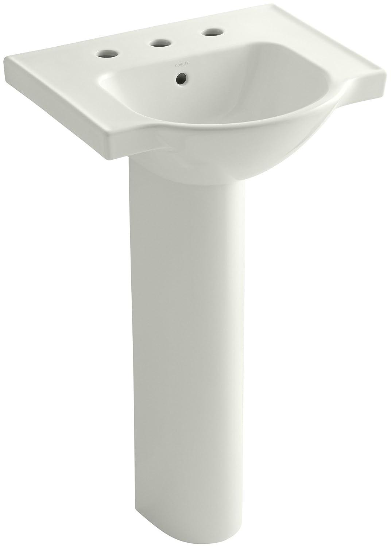 Kohler K 5265 8 33 Veer Pedestal Bathroom Sink With 8 Inch