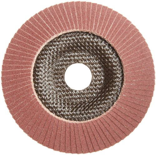 PFERD Polifan PSF Abrasive Flap Disc, Type 29, Round Hole, Phenolic Resin Backing, Aluminum Oxide, 5 Dia., 120 Grit (Pack of 1)