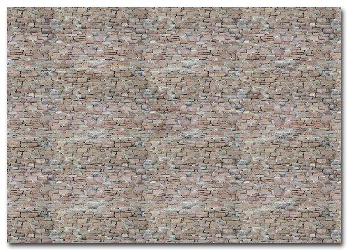 Busch 7423 Wall card sandstone HO Scenery Scale Model Scenery (Sandstone Wall)