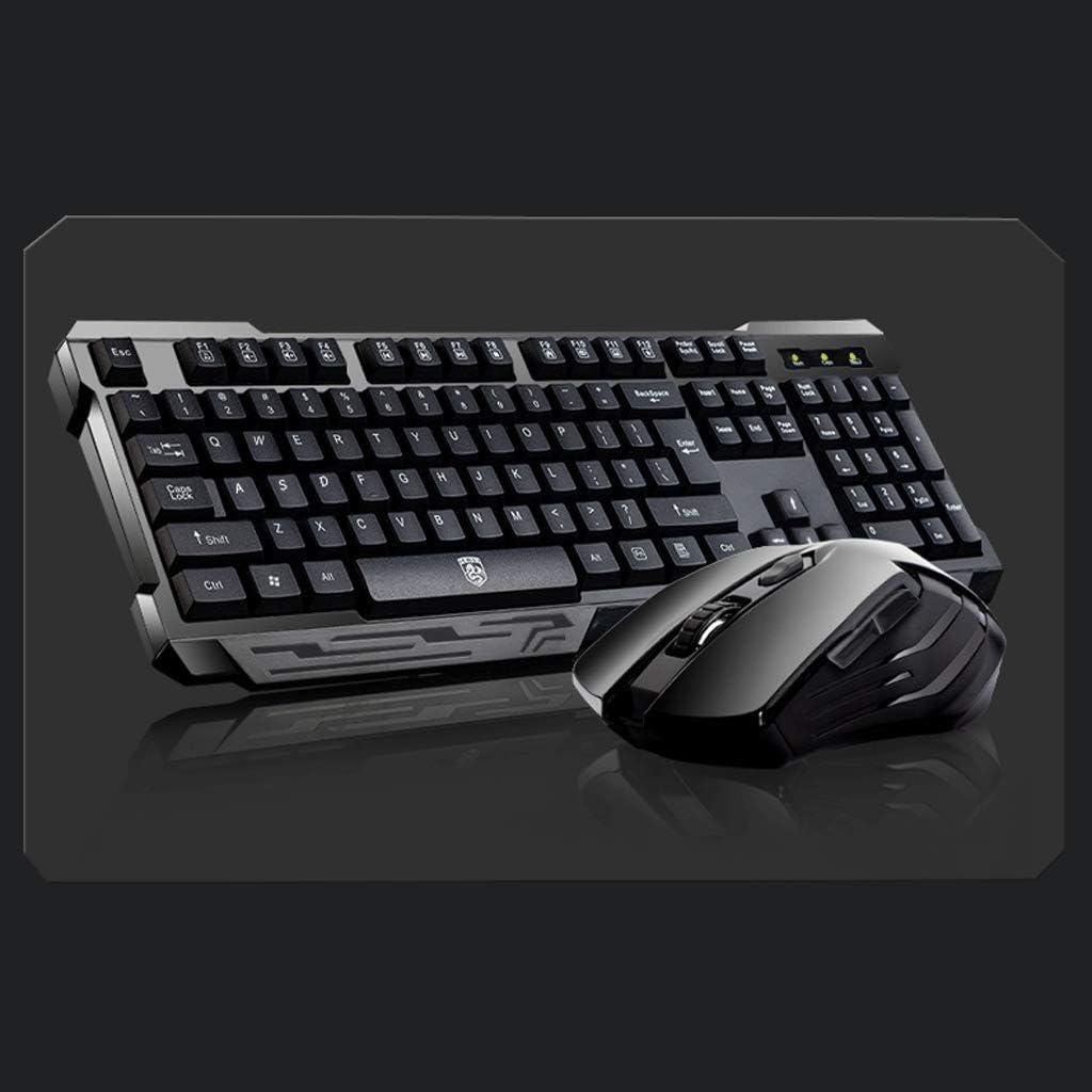 OFNMD Dark Knight Wireless Keyboard Mouse Set Notebook Desktop Computer Keyboard Home Office Games Business Color : Home Version Black