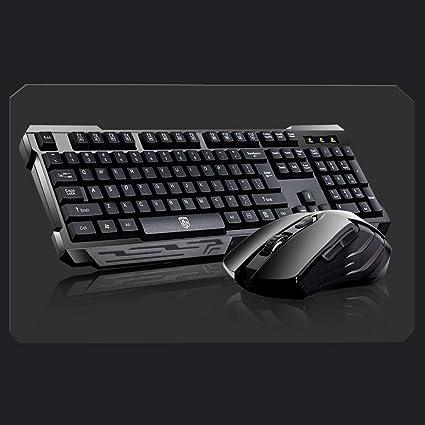 OUKB Dark Knight Wireless Keyboard Mouse Set Notebook ...