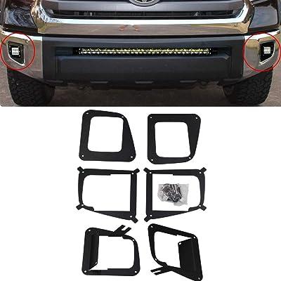 XJMOTO Lower Bumper 3'' Cube Fog Light Mount Bracket For 2014-2020 Toyota Tundra: Automotive