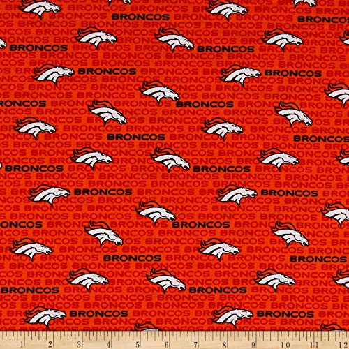 (Traditions NFL Cotton Broadcloth Denver Broncos Mini Orange, Fabric by the Yard)