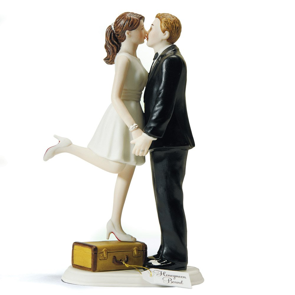 Amazon.com: Weddingstar A Kiss and We\'re Off Figurine: Kitchen & Dining