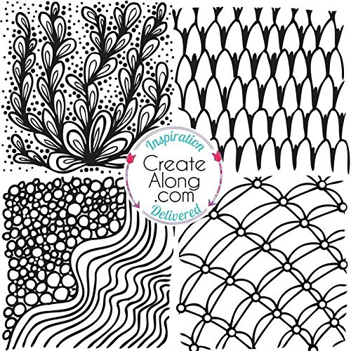 - Silkscreen Stencil Wonder Waves for Polymer Clay and Mixed Media by Create Along