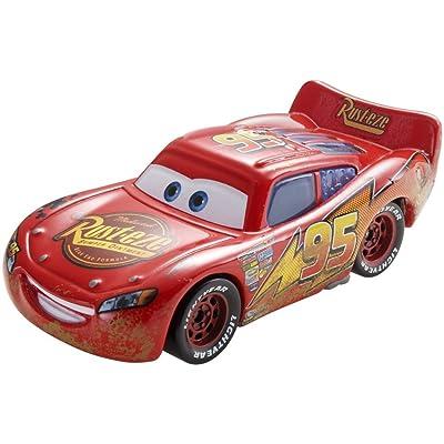 Disney Pixar Cars Road Repair Lightning McQueen Vehicle: Toys & Games