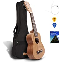 QStyle 21 Inch Concert Ukulele for kids Beginners with Carrying Bag Pick Strap Spare Strings