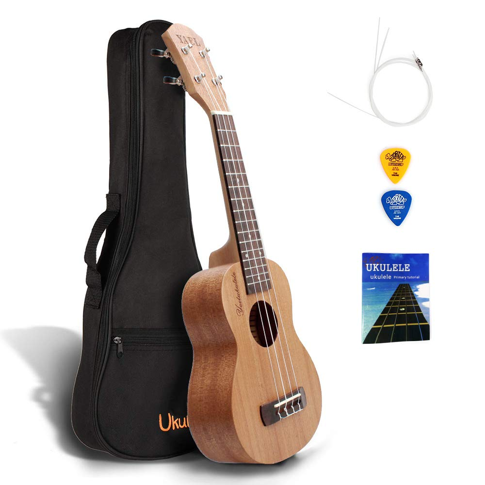 QStyle Concert Ukulele 21 Inch - Ukeleles for kids Beginners with Carrying Bag Pick Strap Spare Strings