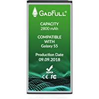 GadFull Batería de reemplazo para Samsung Galaxy S5 | 2018 Fecha de producción | Corresponde al Original EB-BG900BBE EB-BG900 | Compatible con Galaxy S5 SM-G900F batería de Repuesto
