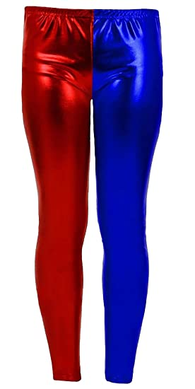 Islander Fashions Girls Metallic Red Blue Discoteca Leggings Childrens Shiny Fancy Dress Pantalones de Cosplay 5-13 Years: Amazon.es: Ropa y accesorios