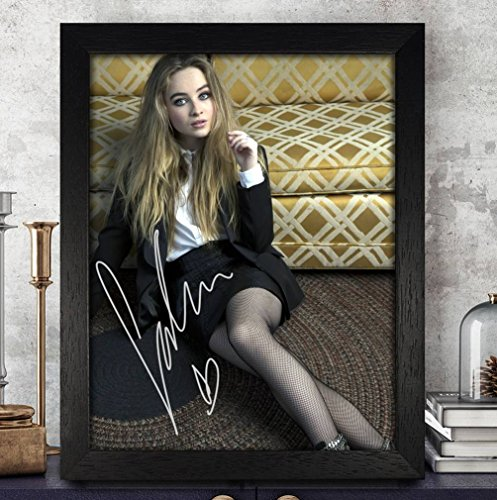 Autographed Signed Framed (Sabrina Carpenter Autographed Signed FRAMED Photo 8x10 Reprint RP PP [Girl Meets)