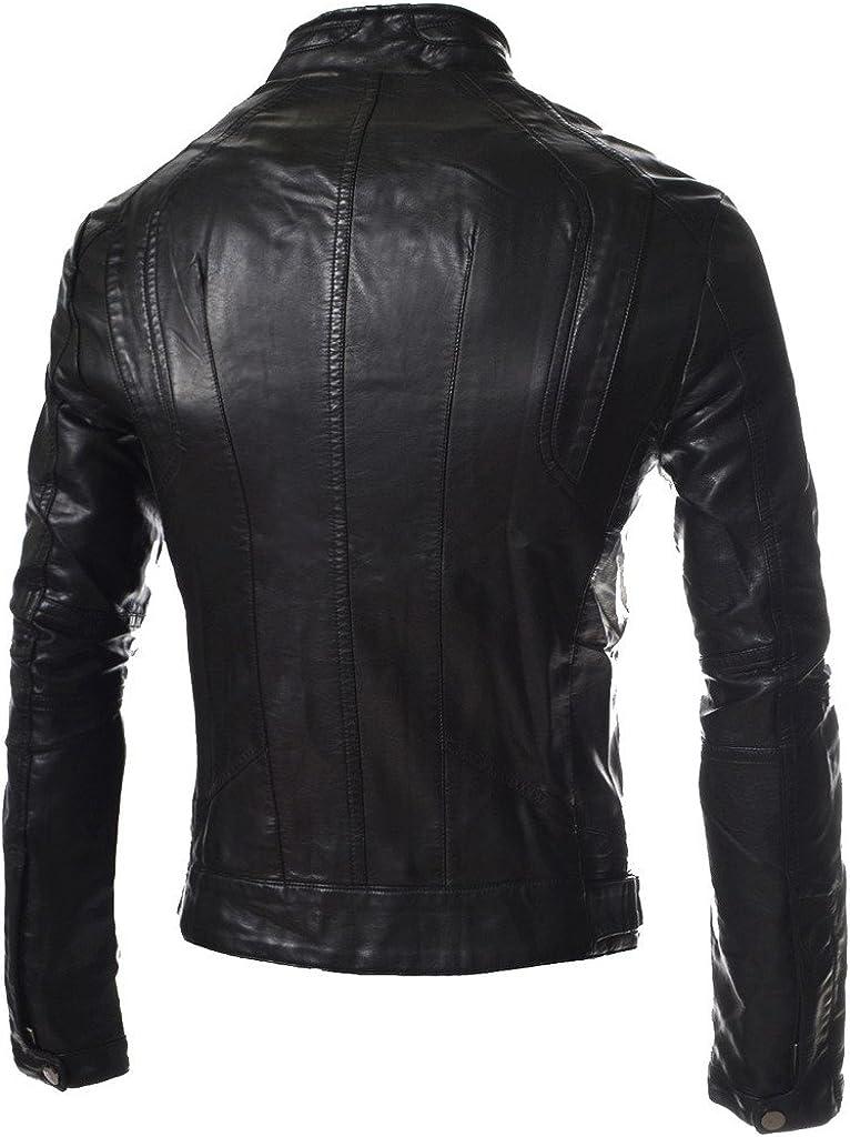 New Men Motorcycle Leather Black Jacket Custom Made KL139