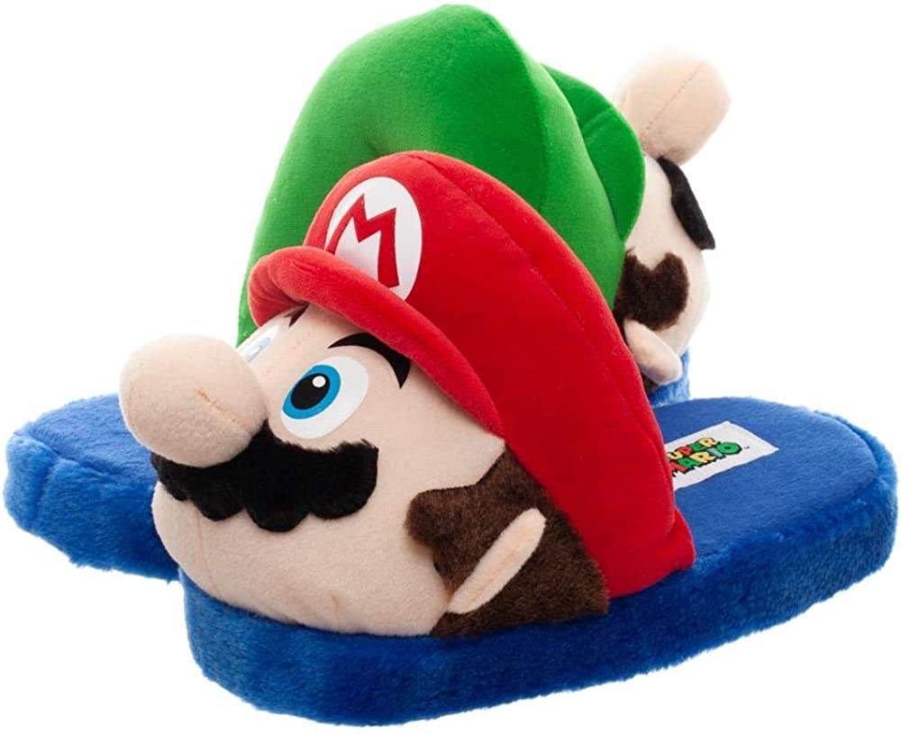 Mario and Luigi Slippers Super Mario Accessories Mario & Luigi Slippers