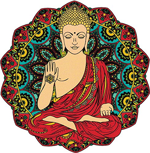 Gautama Buddha Yoga Meditation - Window Sticker Decal (4.5