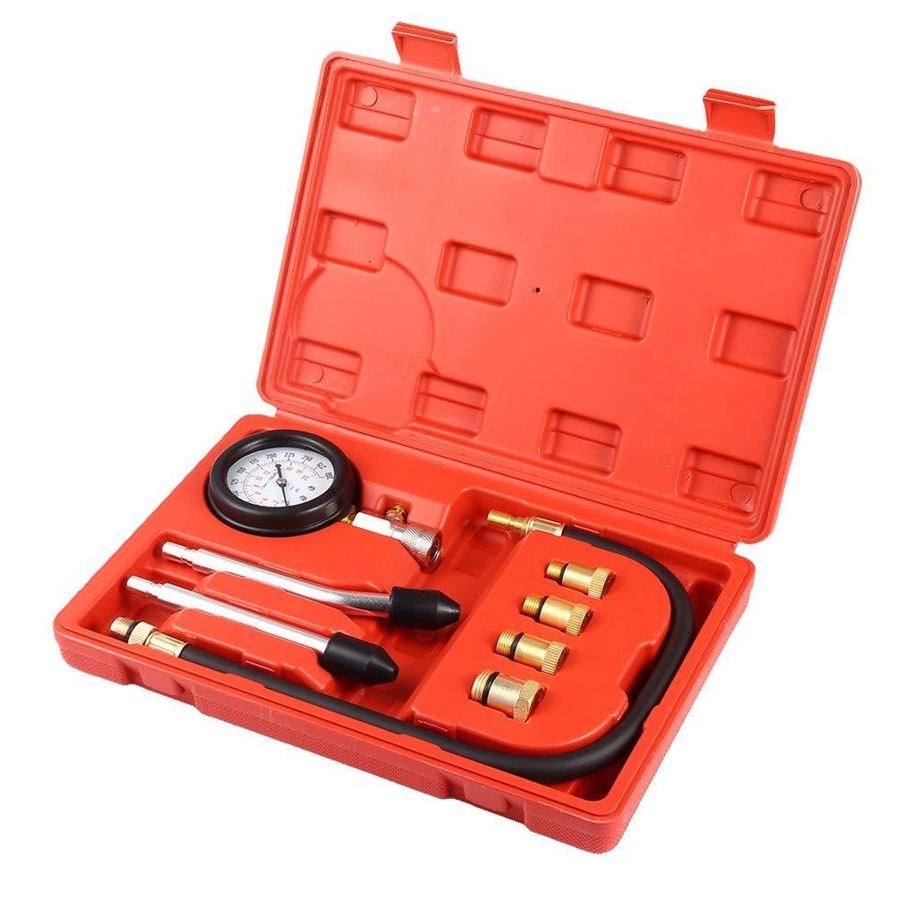 Benzin-Benzinmotor Zylinder-Kompressionstester Automotive Kit Diagnostic Motor-Rot-Zylinder-Kompression TianranRT★ Zylindertester