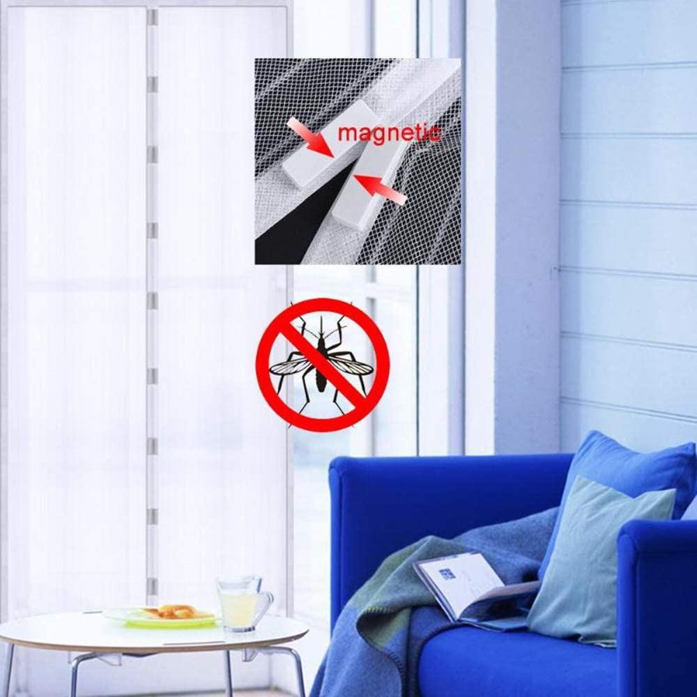 beige Mosquitera magn/ética magn/ética mosquiteras y mosquiteras son ideales para cerraduras magn/éticas en puertas de balc/ón y mosquiteras