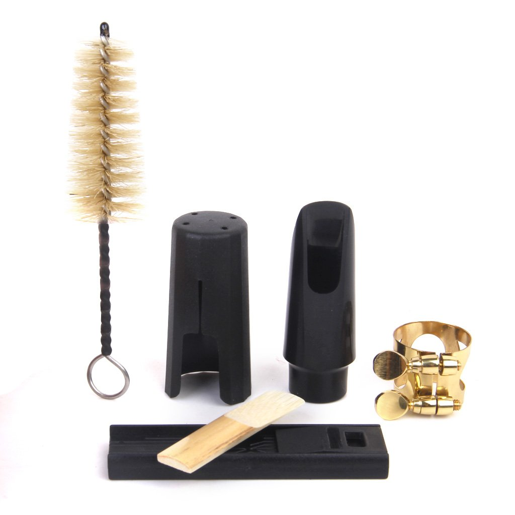 Soprano Saxophone Mouthpiece + Cleaning Kit Black