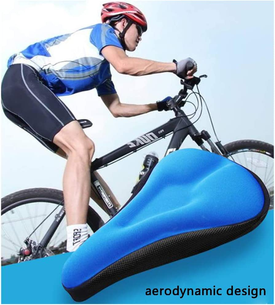 Jorzer Asiento de Gelatina Blanda de Bicicletas Cubierta Transpirable sill/ín Antideslizante Amortiguador de Montar de la Bici con Silicona Coj/ín para Ciclismo Negro