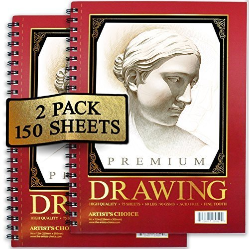 Artist's Choice Sketch Pad,75 Sheets, Pack of - Art Supplies Drawing