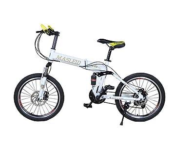 MASLEID bicicleta Bicicleta de montaña bicicletas plegables blanco