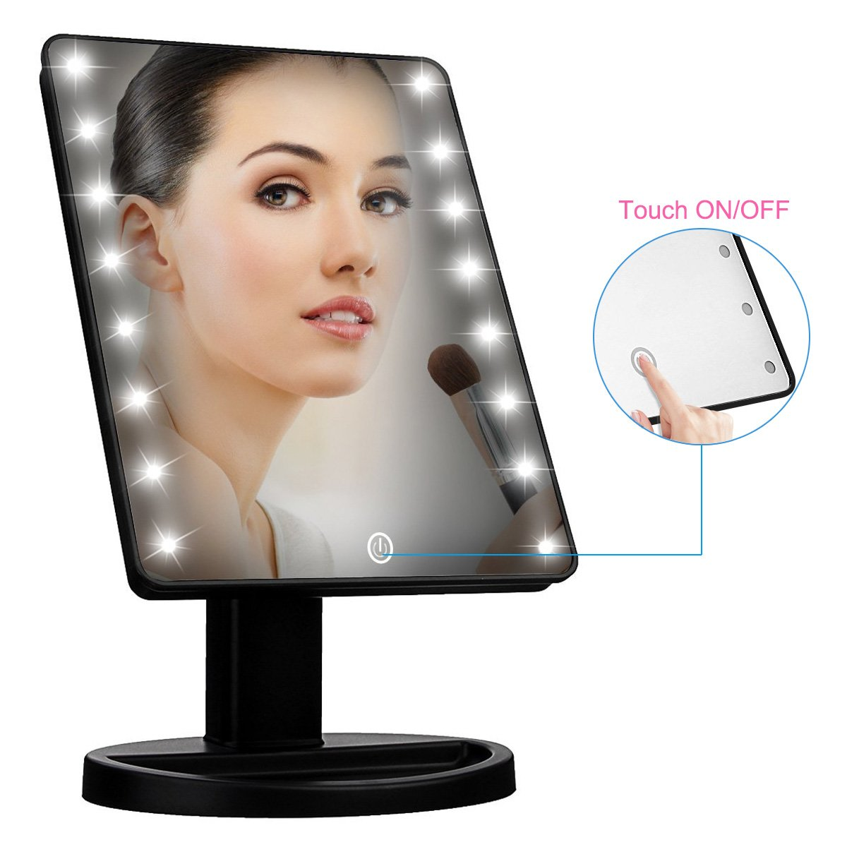 Lighted Makeup Mirror,Adjustable Natural Daylight Makeup Vanity Mirror with 16 LED lights Touch Screen Dimming,Room Decor Vanity Mirror for Women Family Valentines Lovers Teens Girls