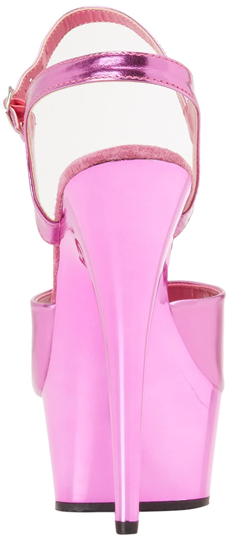 Pleaser Women's Delight-609/FSM/M Platform Sandal B006FYMK44 10 B(M) US|Fuchsia Metallic/Fuchsia