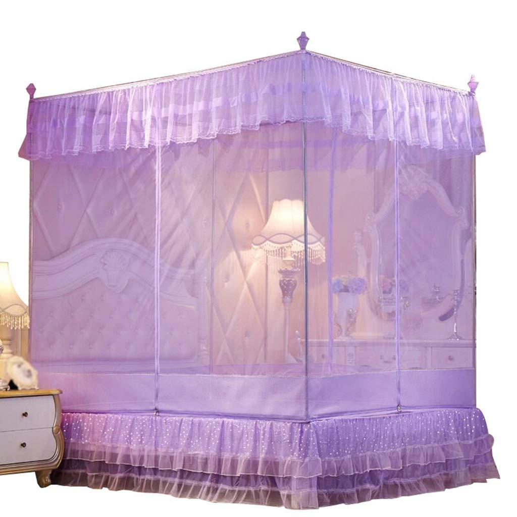 蚊帳、蚊帳が付いているジッパー3の開いたドア、ステンレス鋼の管の厚い/厚い落下防止の蚊の保護 (サイズ さいず : 180*200*170cm) 180*200*170cm  B07P9CN8RD