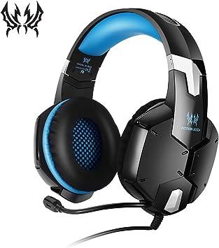 KOTION chat auriculares para juegos para PS4, Xbox y Nintendo Switch, PC / MAC / teléfono / Playstation 4