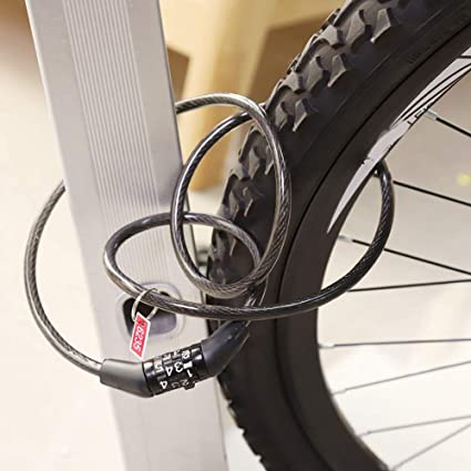 Sevenyou Candado de Bicicleta codificado, Bicicleta antirrobo ...