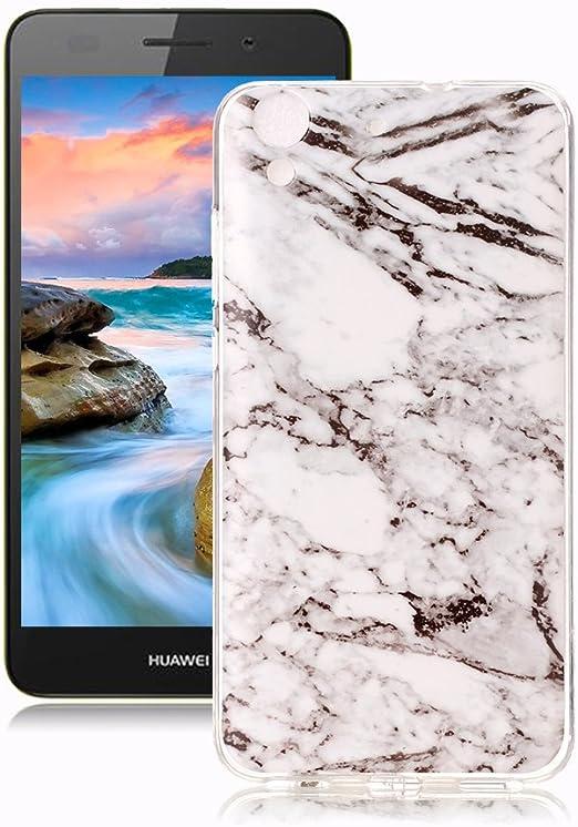 Yunbaoz Funda Compatible para Huawei Y6 II/ Y6 2 Mármol, Diseño ...
