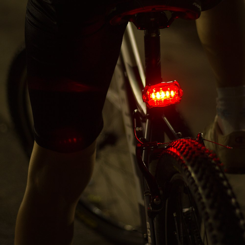 LED BIKE LIGHT SET. Bicycle headlight & taillight combo. Ultrabright 5 LED kit.. Use on bike or scooter. FREE high visibility reflectors. ~ In BG Lights gift box as pictured by BoG Products (Image #4)
