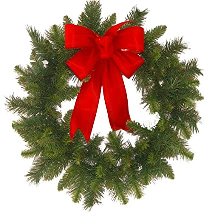 Ordinaire Christmas Wreath With Red Bow
