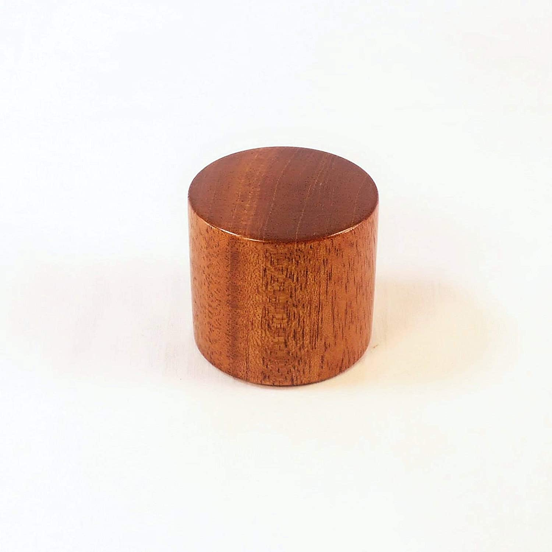 Mahogany Lamp Finial Drum Pattern 2