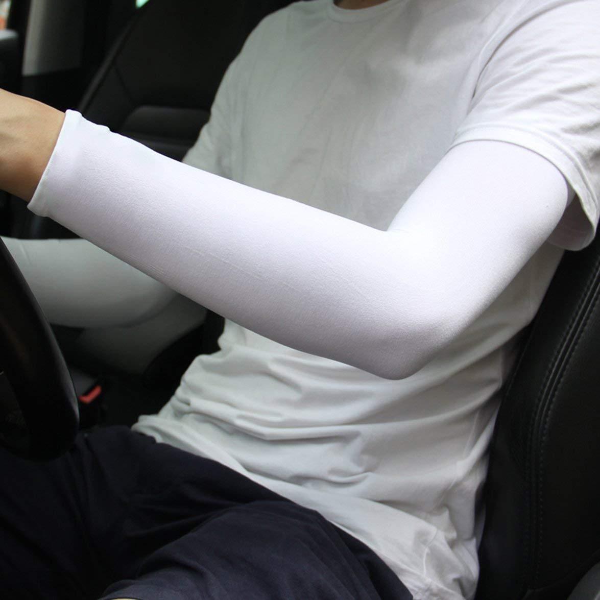 Manchon de Bras de Refroidissement en Nylon Banbie Spandex Couvre-Bras descalade ext/érieur de Protection Solaire Anti-UV