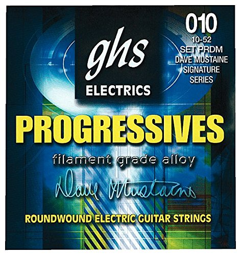 (GHS PRDM Progressives Dave Mustaine Roundwound Electric Guitar Strings)