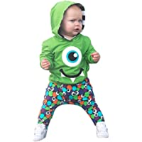 Longra® Baby Coat Pants Outfits,Toddler Baby Kids Boy Cartoon Hoodie Sweatshirt Tops Pants Clothes Set for 0-4 Years
