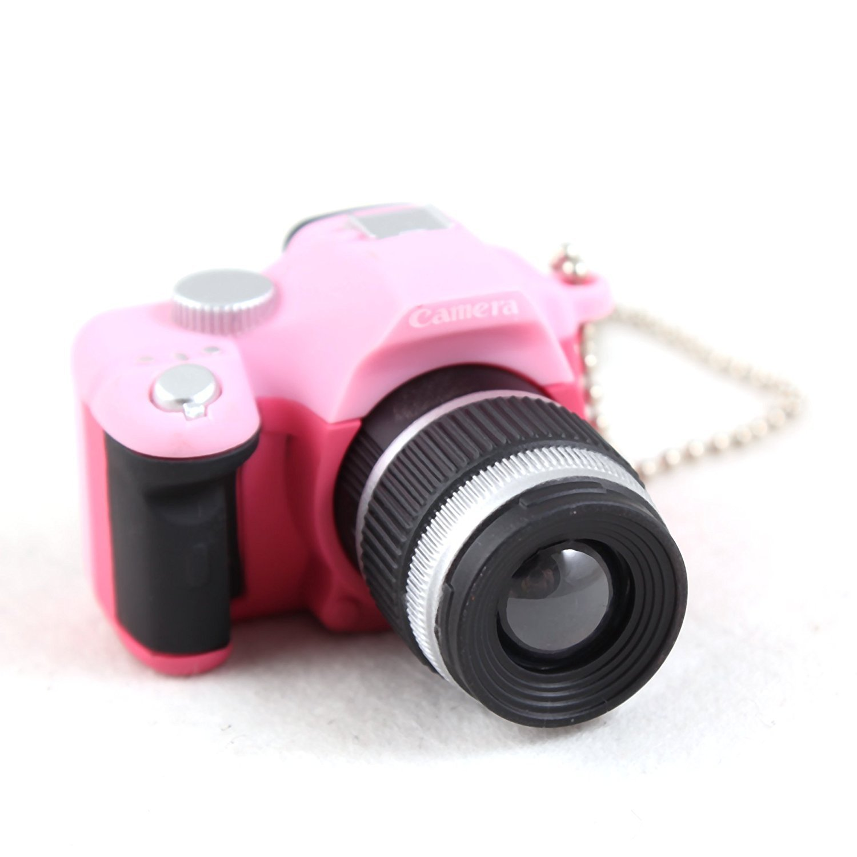 F-eshion Small toy camera LED emergency lamp flashlight sound led Keychain car accessories gifts