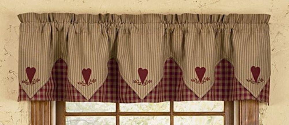 Sturbridge Heart Embroidered Point Valance